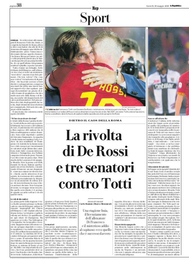 """L'inchiesta di """"La Repubblica"""""""