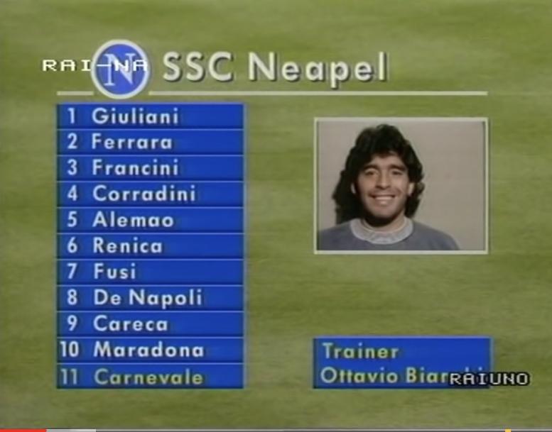 Stoccarda 1989. Finale di Coppa Uefa. Gli 11 di Ottavio Bianchi